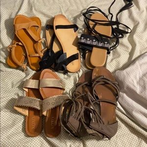 Lot of size 7 Sandals